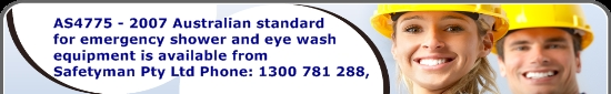 Emergency Shower Banner Australia AS4775 Emergency Eyewash and Shower Equipment